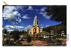 Main Plaza At Paccha, Ecuador II Carry-all Pouch by Al Bourassa