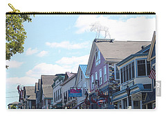 Main Street Bar Harbor Maine Carry-all Pouch by Living Color Photography Lorraine Lynch