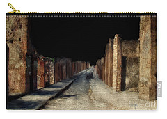 Carry-all Pouch featuring the digital art Main Street, Pompeii by Lois Bryan