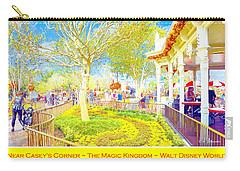Main Street Usa Walt Disney World At Halloween Casey's Corner Carry-all Pouch