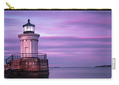 Maine Buglight Lighthouse At Sunset Carry-all Pouch