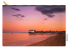 Carry-all Pouch featuring the photograph Maine Coastal Sunset At Old Orchard Beach Pier by Ranjay Mitra
