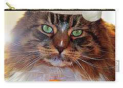 Carry-all Pouch featuring the photograph Maine Coon Xmas by Roger Bester