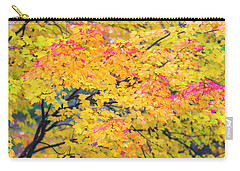 Carry-all Pouch featuring the photograph Maine Fall Foliage In Autumn by Ranjay Mitra