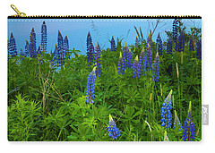 Carry-all Pouch featuring the photograph Maine Field Of Lupines by Ranjay Mitra