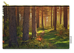 Maine Forest Sunset Carry-all Pouch by David Dehner