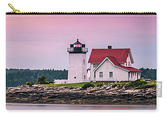 Carry-all Pouch featuring the photograph Maine Hendricks Head Lighthouse In Southport At Sunset by Ranjay Mitra