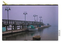Maine Misty Sunset At Falmouth Harbor Carry-all Pouch