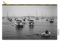 Carry-all Pouch featuring the photograph Maine Misty Winter Morning At Falmouth Harbor by Ranjay Mitra