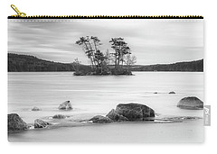 Maine Moose Pond In Winter Filled With Snow And Ice Panorama Carry-all Pouch