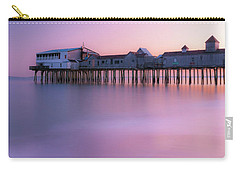 Maine Oob Pier At Sunset Panorama Carry-all Pouch by Ranjay Mitra