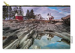 Maine Pemaquid Lighthouse Reflection Carry-all Pouch by Ranjay Mitra