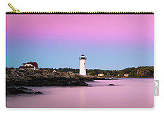 Maine Portsmouth Naval Base Lighthouse At Sunset Panorama Carry-all Pouch