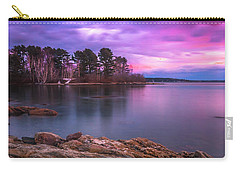 Carry-all Pouch featuring the photograph Maine Pound Of Tea Island Freeport Sunset by Ranjay Mitra