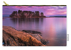 Maine Pound Of Tea Island Sunset At Freeport Carry-all Pouch by Ranjay Mitra