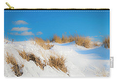 Maine Snow Dunes On Coast In Winter Panorama Carry-all Pouch by Ranjay Mitra