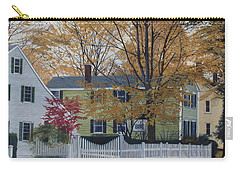 Autumn Day On Maine Street, Kennebunkport Carry-all Pouch by Barbara Barber