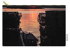 Maine Sunset And Traps Carry-all Pouch