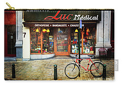 Carry-all Pouch featuring the photograph Maison Luc Bicycle by Craig J Satterlee