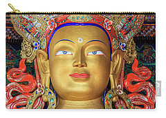Carry-all Pouch featuring the photograph Maitreya Buddha Statue by Alexey Stiop