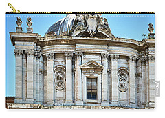 Carry-all Pouch featuring the photograph Majestic Architecture In The Roman Forum by Eduardo Jose Accorinti