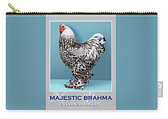 Majestic Brahma Silver Spangled Carry-all Pouch