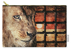 Majestic Lion In Captivity Carry-all Pouch by Anton Kalinichev