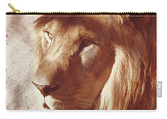 Carry-all Pouch featuring the painting Majestic Lion by Margaret Harmon