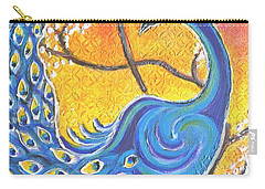 Majestic Peacock Colorful Textured Art Carry-all Pouch