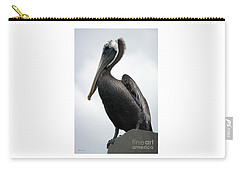 Carry-all Pouch featuring the photograph Majestic Pelican Photography A10317l by Mas Art Studio