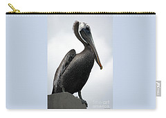 Carry-all Pouch featuring the photograph Majestic Pelican Photography A10317r by Mas Art Studio