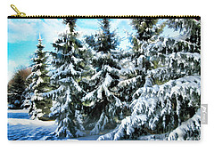 Majestic Winter In New England  Carry-all Pouch by Judy Palkimas