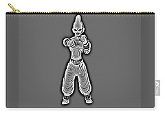 Carry-all Pouch featuring the digital art Majin Buu  by Ray Shiu