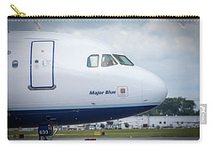 Carry-all Pouch featuring the photograph Major Blue by Guy Whiteley