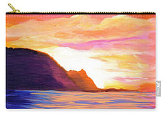 Makana Sunset Carry-all Pouch by Marionette Taboniar