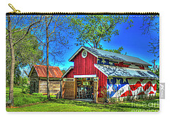 Carry-all Pouch featuring the photograph Make America Great Again Barn American Flag Art by Reid Callaway
