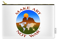 Make Art Not War Logo Carry-all Pouch