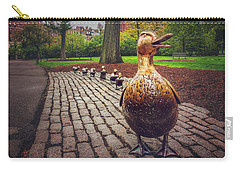 Make Way For Ducklings In Boston  Carry-all Pouch by Carol Japp