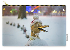 Make Way For Ducklings Winter Hats Boston Public Garden Christmas Carry-all Pouch