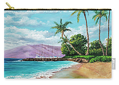 Carry-all Pouch featuring the painting Makila Beach by Darice Machel McGuire