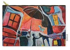 Carry-all Pouch featuring the painting Making Friends Under The Umbrella by Susan Stone