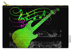 Carry-all Pouch featuring the digital art Making Music by Guitar Wacky