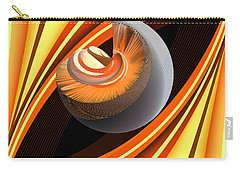 Carry-all Pouch featuring the digital art Making Orange Planets by Angelina Vick