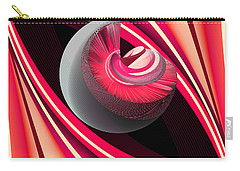 Carry-all Pouch featuring the digital art Making Pink Planets by Angelina Vick