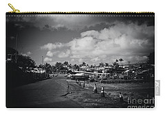 Carry-all Pouch featuring the photograph Mala Wharf Ala Moana Street Lahaina Maui Hawaii by Sharon Mau
