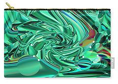 Malachite Green Sea Bubbles Carry-all Pouch