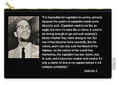 Malcolm X  On Capitalism And Vultures Carry-all Pouch