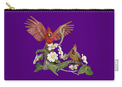 Male And Female Cardinals  Carry-all Pouch by Walter Colvin