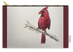 Male Cardinal In Winter Carry-all Pouch