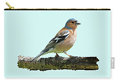 Male Chaffinch, Blue Background Carry-all Pouch